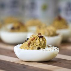I took the best of all things and put them together to make a MAPLE BACON COFFEE DEVILED EGG! Yes all caps because it's that serious!  Make these now or save them for later but your life is about to change. And there is a full video :)