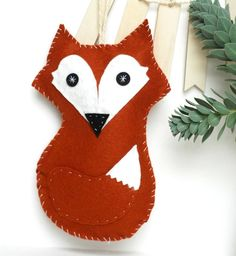 Items similar to Personalized Christmas Ornament Fox Ornament with Custom Name Holiday 2014 on Etsy Fox Ornaments, Felt Christmas Ornaments, Personalized Christmas Ornaments, Christmas Stockings, Christmas Decorations, Holiday Decor, All Things Christmas, Christmas Fun, Fox Crafts