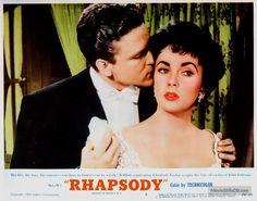 Rhapsody - Lobby card with Elizabeth Taylor & John Ericson