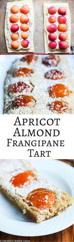 Gluten-Free Apricot Almond Frangipane Tart - this elegant dessert is easy to make and delicious. Frangipane is an almond filling. Peach jam is used to glaze the apricots on top for a special touch ~ http://jeanetteshealthyliving.com