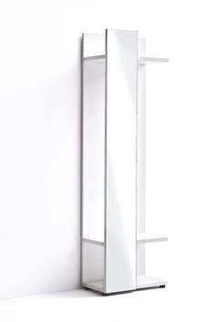 Garderobenpaneel Rubin II Hochglanz Weiß Klare moderne Möbellinie Passend zur Möbelserie Rubin 1 x Garderobenpaneel mit Spiegel mit 1 Kleiderstange und 2 Ablageböden... #flur #kleiderpaneel #garderobenpaneel