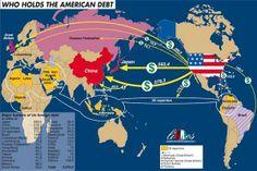 The American debt map
