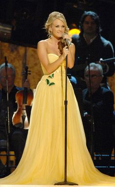 2007 CMA Awards from Everything Carrie Underwood Has Ever Worn at the CMA Awards  In Escada