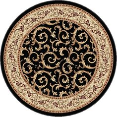 Bring a fresh look to your floor by choosing this Tayse Rugs Elegance Red Round Indoor Area Rug. Made of polypropylene material. Decoupage, Teal Carpet, Islamic Art Pattern, Transitional Area Rugs, Floral Area Rugs, Interior Paint Colors, Round Area Rugs, Contemporary Home Decor, Bedroom Carpet