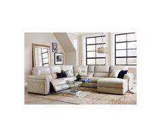 Nina Leather Power Reclining Sectional Sofa Collection macyscom