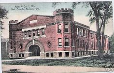 c1915 Neenah National Guard Armory 1 Wisconsin Postcard #VINTAGEPOSTCARD