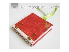 ▶ Atelier scrapbooking tutoriel mini album technique français - YouTube
