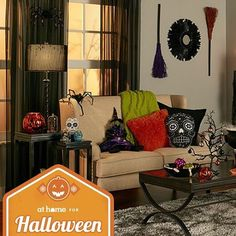 Turn your living room into a whimsical wonderland with playful Halloween d?cor that doesn?t cost a pretty penny. Halloween 2015, Spooky Halloween, Holidays Halloween, Halloween Crafts, Happy Halloween, Halloween Decorations, Halloween Party, Halloween Ideas, Favorite Holiday