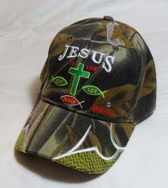 17bf26f3cfe JESUS IS THE WAY (Says It all) John 14 6 Christian Hat Baseball Cap