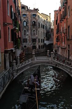 Gondola rides in Venice, Italy.