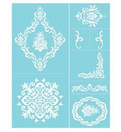 Martha Stewart Crafts ® Glass Silkscreen - Damask Accents