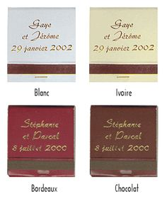 lot 50 pochettes allumettes personnalises nos allumettes et etuis cigarettes personnaliss mariage - Allumettes Personnalises Mariage