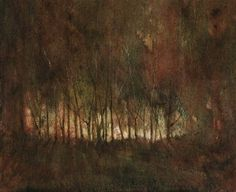 "Saatchi Art Artist Maurice Sapiro; Painting, ""Into The Woods At Dawn"" #art"