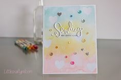 """Little Crafty Pill: """"Sending you love and hugs"""" with Simon Says Stamp"""