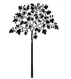 Wall Stencils - Patterns, Flowers, Trees - by OliveLeafStencils Wall Stencil Patterns, Stencil Diy, Stencils, Tree Sketches, Tree Illustration, Illustrations, Hanging Frames, Fig Tree, Tree Designs