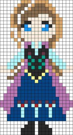 Pixel Art Kawaii Princesse Disney
