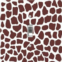 """Rikki KnightTM Giraffe Design on White - Single Toggle Light Switch Cover by Rikki Knight. $13.99. Glossy Finish; For use on Walls (screws not included); Masonite Hardboard Material; Washable; 5""""x 5""""x 0.18"""". The Giraffe Design on White single toggle light switch cover is made of commercial vibrant quality masonite Hardboard that is cut into 5"""" Square with 1'8"""" thick material. The Beautiful Art Photo Reproduction is printed directly into the switch plate and not decoupaged which ... Toggle Light Switch, Light Switch Covers, Kitchen Lamps, Switch Plates, Animal Print Rug, Photo Art, Decoupage, Kids Room, Room Decor"""