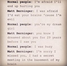 Normal People vs Matt Berninger
