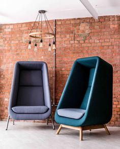 Muse privacy booth chairs - Expolore the best and the special ideas about Chair design Plywood Furniture, Furniture Decor, Modern Furniture Design, Office Furniture, Office Chairs, Muebles Living, Office Interior Design, My New Room, Upholstered Chairs