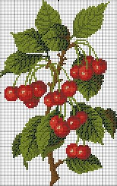123 Cross Stitch, Cross Stitch Fruit, Cross Stitch Kitchen, Cross Stitch Heart, Cross Stitch Flowers, Cross Stitch Designs, Cross Stitch Patterns, Cross Stitching, Cross Stitch Embroidery