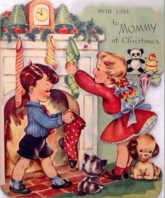 By the chimney with care at Christmastime.