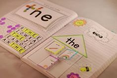 We will be doing this in nest year! Sight Word Interactive Notebooks: super fun way to engage your students in learning sight words Teaching Sight Words, Sight Word Practice, Sight Word Games, Sight Word Activities, Literacy Activities, Literacy Centers, Kindergarten Language Arts, Kindergarten Literacy, Interactive Notebooks Kindergarten