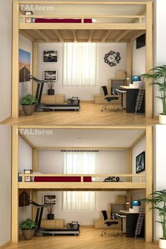 [Rising Loft] Maybe your new flat is in a fantastic place, but you don't have enough space... Well, the Rising loft is designed for small apartments: its electric adjustable height can double the available space of a room! #ITALformdesign