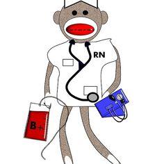 Vintage Sock Monkey Nurse Gabel, Nurse Gifts, Chiffon Shirt, Long Hoodie, Wood Print, Cotton Tote Bags, Decorative Throw Pillows, Laptop Sleeves, Monkey