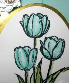 Cindy's watercoloring tips. All supplies from Stampin' Up!