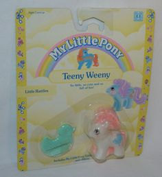 ~*MOC Little Rattles*~ Vintage G1 Teeny Tiny Weeny Baby My Little Pony MIB NFRB in Pre-1990 | eBay