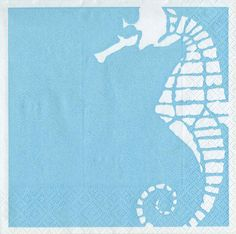 Party Supplies: turquoise sea horse cocktail napkins - pack of 20