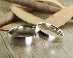 dcc812e36a80 Custome Gifts His and Her Promise Rings - Matt Silver Wedding Titanium  Rings Set Joyas De