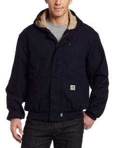 Carhartt's flame-resistant midweight active jac is finished with a 6.75-ounce quilt lining for warmth. Made of 8.5-ounce, flame-resistant canvas, a blend of 88 percent cotton and 12 percent high-tenacity nylon, it features two lower front pockets, two inside patch pockets with hook-and-loop...  More details at https://jackets-lovers.bestselleroutlets.com/mens-jackets-coats/work-wear/product-review-for-carhartt-mens-flame-resistant-midweight-canvas-active-jacket/
