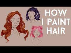 HAIR PAINTING TUTORIAL - YouTube