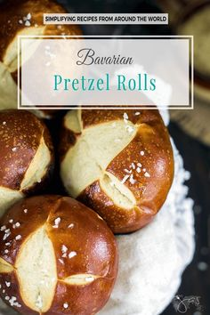 Delicious homemade Bavarian pretzel rolls are soft on the inside with a salty chewy crust and super easy to make Pretzel Roll Recipe, Pretzel Bread, Pretzel Rolls, Pretzels Recipe, Homemade Soft Pretzels, German Soft Pretzel Recipe, Easy Homemade Bread, Easy Bread Recipe, Homemade Hamburger Buns