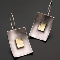 Rectangle Earrings - Sterling and 18k — Ai Jewelry