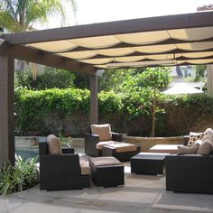ingenua rectangular shade sail system | outdoor spaces | pinterest ... - Shaded Patio Ideas