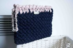 Clutch, handmade with eco friendly Tshirt yarn Various colours crochet https://www.etsy.com/uk/listing/209462774/clutch-handmade-with-eco-friendly-tshirt?ref=shop_home_feat_2
