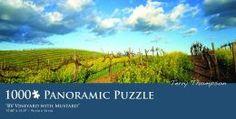 Bv Vineyard With Mustard -Thompson Panoramic 1,000 Pc