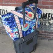 Carry-on Sized Trolley Sleeved Duffle - via @Craftsy