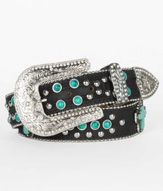 Blazin Roxx Stone & Stud Belt - Women's Accessories | Buckle