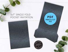 trifold envelope 5x7 Marble Pocket Wedding Invitation Template PDF pocket invitations printable pocket envelope Pocket Folio Invitation