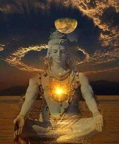 Shiva- The Supreme Lord of Yoga. The great lord of yoga, Adi Yogi (Shiva) as the supreme reality to awaken his power within us . Hindu Shiva, Shiva Art, Shiva Shakti, Hindu Deities, Hindu Art, C G Jung, Shiva Photos, Rudra Shiva, Lord Shiva Hd Images