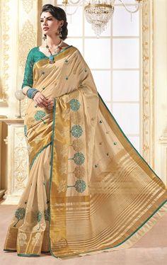 Fascinating Tan Brown Silk Saree