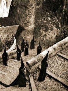 "ancient rite in ""Hanging village"" Cuença"