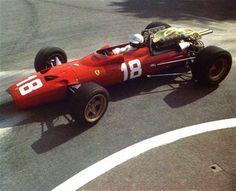 Lorenzo Bandini Ferrari 312, racing at Monaco, 1967