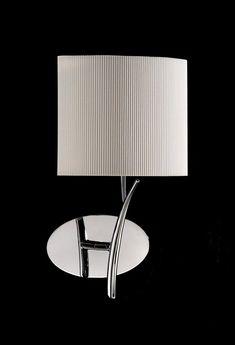 Aplique cromo blanco 1 luz EVE - La Casa de la Lámpara