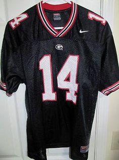 NIKE Georgia Bulldogs BLACK football jersey , youth X-large