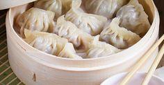 Chińskie pierożki dim sum z mięsem Dim Sum, Ravioli, Cabbage, Garlic, Food And Drink, Appetizers, Baking, Vegetables, Pierogi