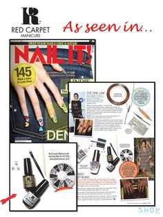 """See Red Carpet Manicure in January/February issue of Nail It Magazine!"""" #RCMNailIt"""